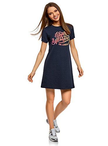 Maille oodji en Bleu 794dp Ample Robe Femme Coupe Ultra IHqHgxT