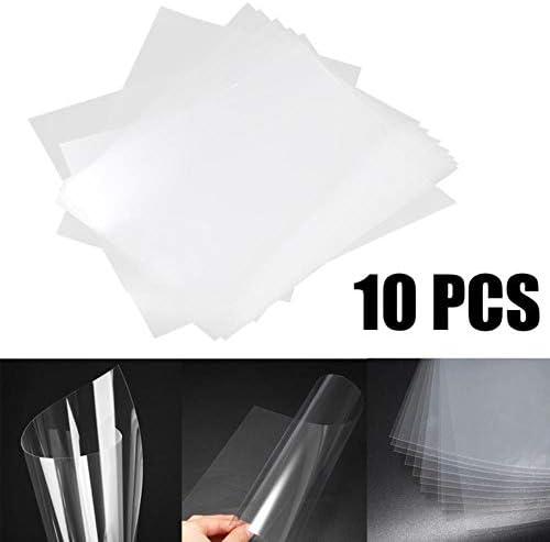 aifengxiandonglingbaihuo 5 / 10pcs A4-Format Inkjet-Laserdruck Transparentfolie Transparente Inkjet-Folie Für Fotopapier-PCB-Schablonen, 10Pc