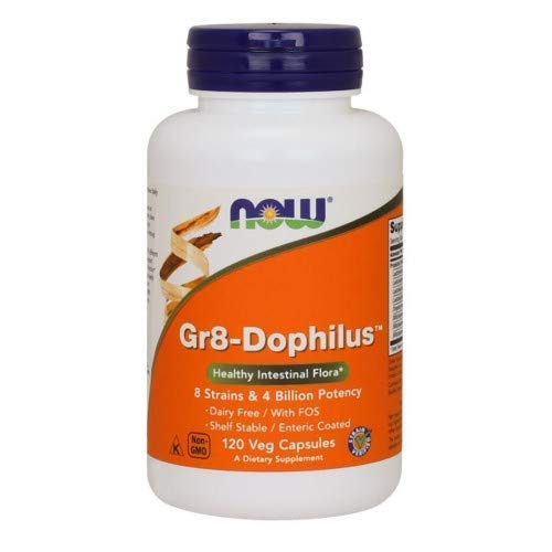 Now Foods: Gr8-Dophilus Healthy Intestinal Flora, 120 vcaps (2 pack) (Best Enteric Coated Probiotics)