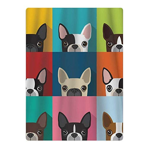 (Cartoon Boston Terriers Bulldog Youth Quick-Drying Pool Beach Towel Travel Bath Towel)