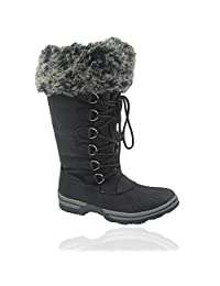 Comfy Moda Women's Winter Snow Warm Boots Blue Mountain #6-12
