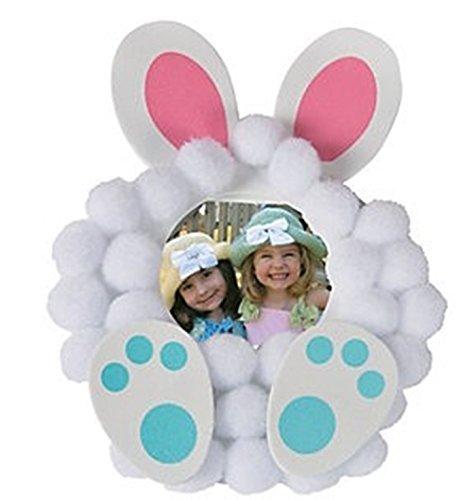 12 - Pom-Pom Bunny Picture Frame Magnet Craft Kits