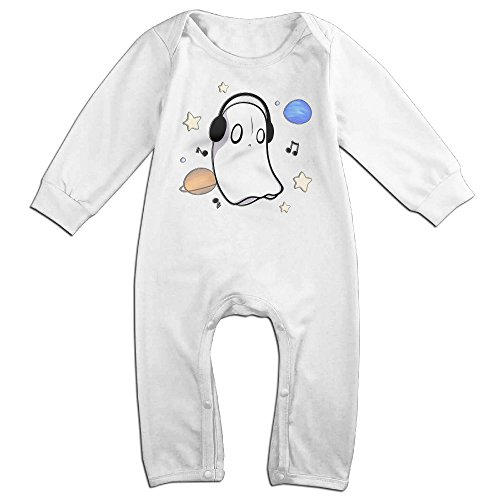 [ROBERT Baby Infant Romper Undertale Ghost Long Sleeve Jumpsuit Costume 12 Months] (Odd Squad Costume)