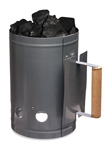 Charcoal Starter, Outdoor Nation Chimney Charcoal Starter with Wooden Handle (Smoker Chimney compare prices)