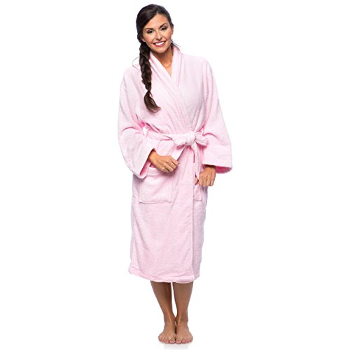 cheer-collection-luxurious-cotton-small-mediumterry-bathrobe-with-shawl-collar-pink