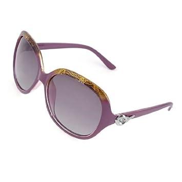 Señoras Montura completa Square Len púrpuras oscuras gafas de sol ...