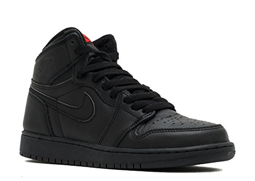 NIKE 575441-022 Grade School Air 1 Retro High OG BG Jordan Black University Red