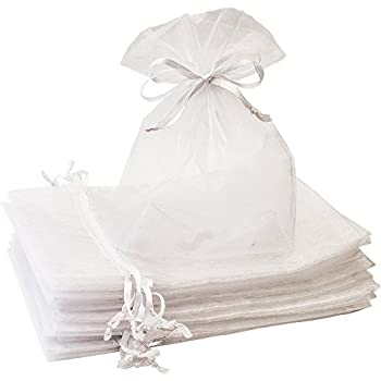 Amazon.com: 5x7 Inches Organza Bags 100Pcs Drawstring ...
