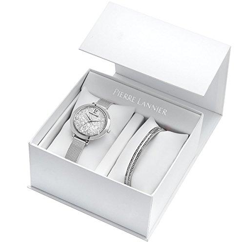 Pierre Lannier Elegance Swarovski Crystal Ladies Watch & Bracelet Gift Set
