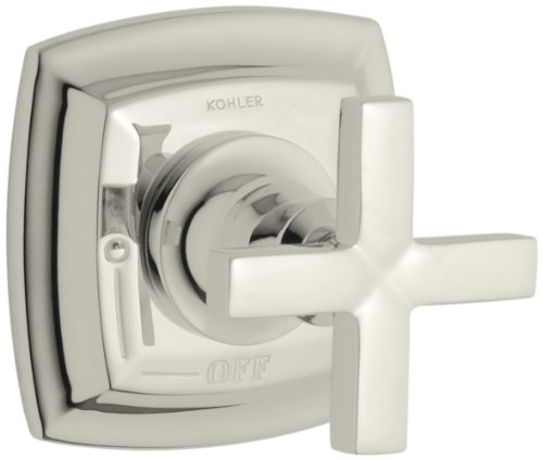 (KOHLER K-T16241-3-SN Margaux Volume Control Valve Trim with Cross Handle, Valve Not Included, Vibrant Polished Nickel)