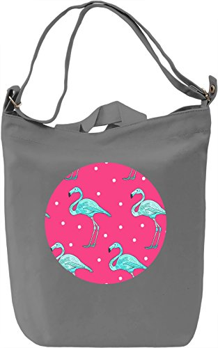 Cute Flamingo Borsa Giornaliera Canvas Canvas Day Bag| 100% Premium Cotton Canvas| DTG Printing|