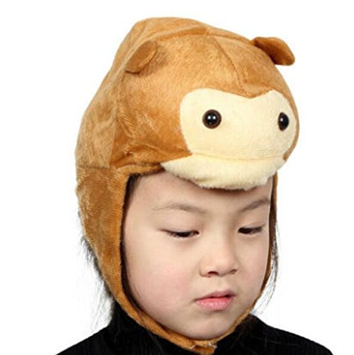 Goodscene Party decoration accessories Cute Kids Performance Accessories Cartoon Animal Hat (Monkey) by Goodscene