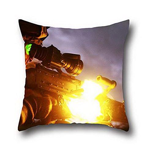 Gui Lian Little Devil Cotton Faux Texture Hand Made Pillow Case Cushion Cover ( 18*18 )