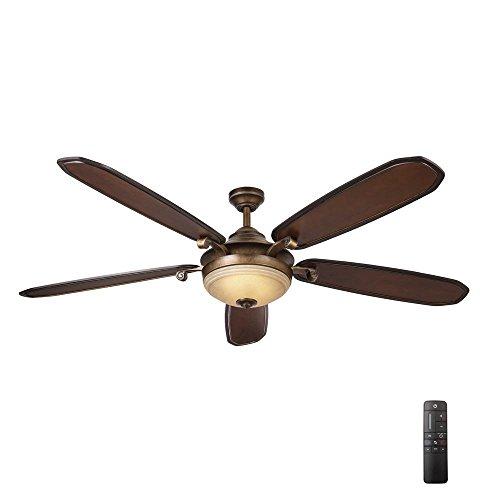 Amaretto 70 in. LED French Beige Ceiling Fan