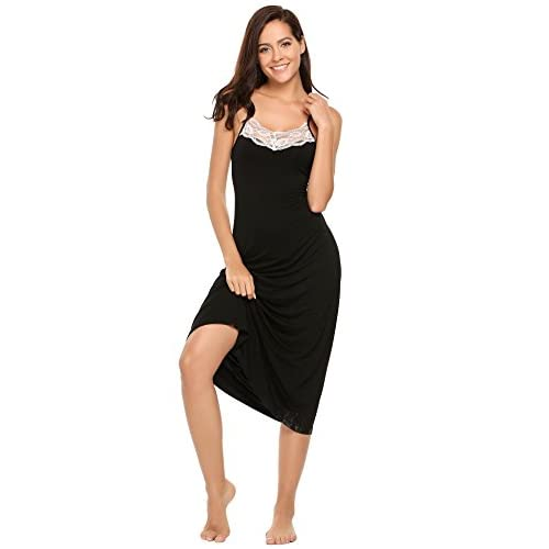 f8a8615746 hot sale Ekouaer Womens Sleepwear Nightgown Full Slips Lace Sling Dress S-XL