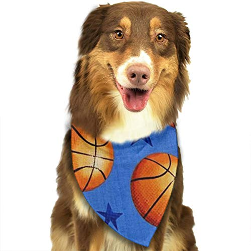 ZZJIAK Dog Bandana Scarf Star and Basketball Triangle Bibs Printing Kerchief Set Accessories Dogs Cats Pets -