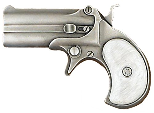 Buckle Rage Adult Unisex Derringer Handgun Pistol Gun Revolver Belt Buckle (Off-White) (Best Co2 Pistol On The Market)