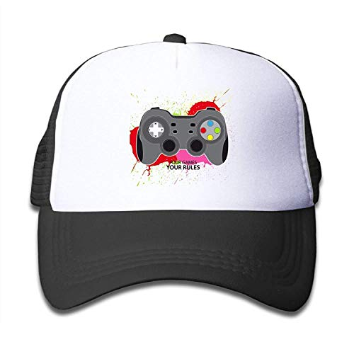(Thevictory Your Games Your Rules Joypad Boys and Girl Snapback Mesh Baseball Hat Youth Caps)