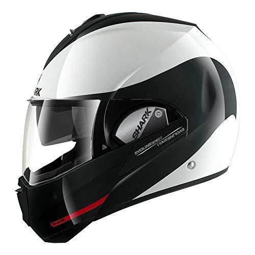Shark HE9352DWKRL Unisex-Adult Full Face Evoline 3 Hakka Helmet (White Black Red, Large)
