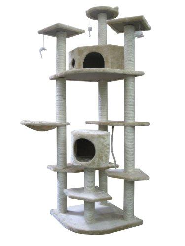 80″ Cat Tree Condo Furniture Scratch Post Pet House, My Pet Supplies