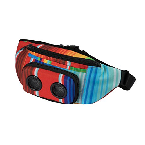 The #1 Fannypack with Speakers. Bluetooth Fanny Pack for Parties/Festivals / Raves/Beach / Boats. Rechargeable, Works with iPhone & Android. #1 Bachelorette Party Gift (Rainbow, 2018 Edition)