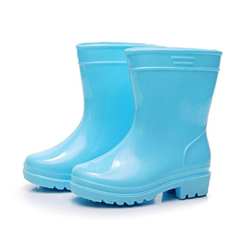 Baby Rain Shoes, Amiley Kids Children Baby Boy Girls Waterproof Child Solid Rubber Rain Shoes Boots (US:7/Age:2-2.5T, - Princess Snow Boot