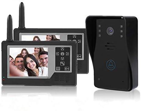 Sonnette Interphone Vid/éo Prise de Photo Automatique Zoom Num/érique 3X Sonnette Infrarouge de Vision Nocturne de 3,5 Pouces 120/° Grand Angle