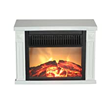 ComfortGlow EMF162 1200-Watt Hearth Portable Electric Fireplace Classic, Mini, White