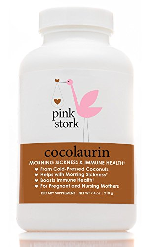 Pink Stork Cocolaurin: Organic Coconut Morning Sickness Relief and Immune Booster -Monolaurin from Coconut Oil -Relief from Nausea, Indigestion, Constipation, & more -Tasteless Pellets