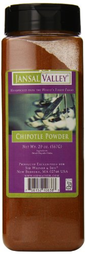 Jansal Valley Chipotle Powder, 20 Ounce Chipotle Brown Chile Peppers