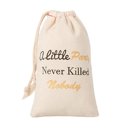 "Ling's moment 10pcs 4""x6"" Gatsby Wedding Bachelorette Party Decor - Hangover Kit,Survival Kit, Recovery Kit, Emergency Kit Favor Bag - A Little Party Never Killed Nobody"