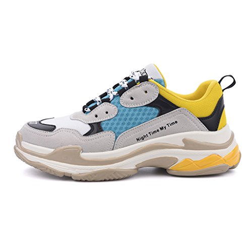 The Retro Spring Korean Female New Wild Summer Yellow Single Shoes Shoes LIUXUEPIN Version Shoes Sports Shoes Old qwHPH7