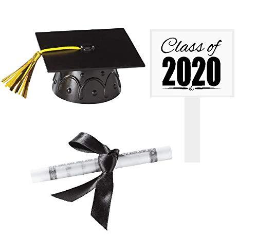 Graduation Cake Topper (CakeSupplyShop Mini Small Graduation Cap/Hat Toy Cake Decoration Food Topper & Centerpiece)