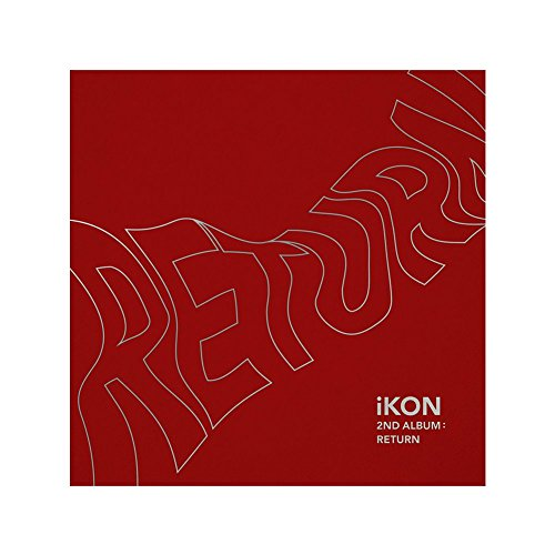Music Group Album (YG Entertainment Idol Goods Fan Products YGeShop iKON 2nd Album: Return CD + PHOTOBOOK + Lyric Book + 8 Postcards + Photocard + Selfie Photocard + Photo Film + Sticker + Poster RED Ver.)