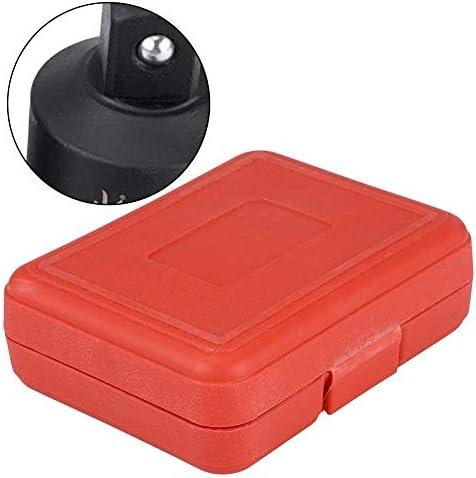 ZHTY Socket Sets,8pc Professional Impact Socket Driver Convertor Adaptor Reducer Converter Adapter Set 1/4inch 3/8inch 1/2inch 3/4inch 1inch with Red Plastic Case Tool