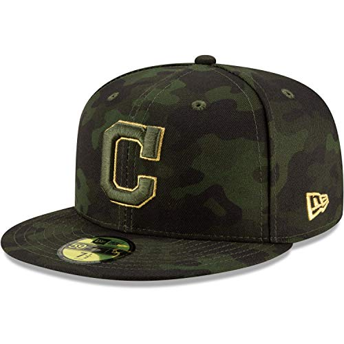 New Era 5950 Cleveland Indians Armed Forces Memorial Day Fitted Hat (CAM) Cap (New Era 5950 Fitted Hat)