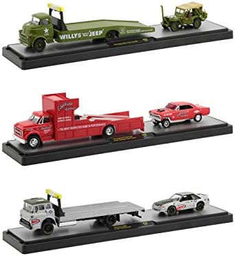M2 Machines Auto Haulers Set of 3 Trucks Release 39 Limited Edition to 6000 Pieces Worldwide 1/64 Diecast Models 36000-39