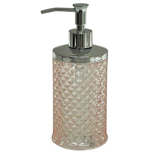 Compare Price Pink Glass Soap Dispenser On