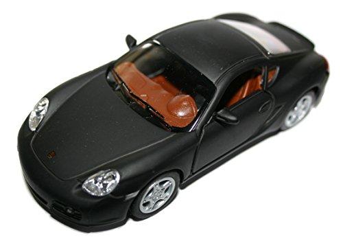 Porsche Cayman S GT Diecast Scale Model Cars Ouverture des portes Pull Back Go Action 1:34 Scale Classic Black