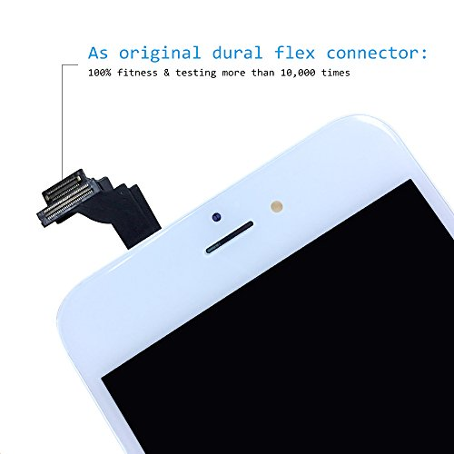 LCD Screen Replacement for iPhone 6 Plus 5.5'' White- GAVATE39 Digitizer for iPhone 6Plus with 3D Touch, Include Free Repair Tools kit & Detailed Instructions by GAVATE39 (Image #3)