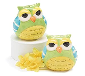 Whimsical Owl Salt and Pepper Shakers Adorable Kitchen Decor