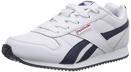 Reebok Royal Classic Jogger - Zapatillas de cuero para niño Blanco (White/Athletic Navy/Red)