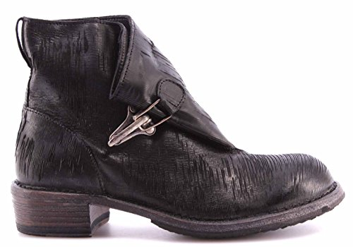 Zapatos Mujer Botín MOMA Ankle Boots 78501-9A Iliade Nero Negro Vintage Made IT