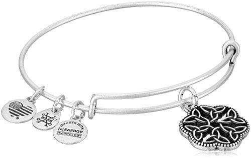 Alex and Ani Endless Knot III Rafaelian Silver Bangle Bracelet
