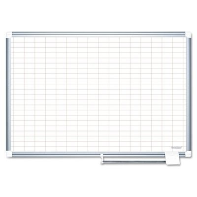 MasterVision 48 x 72 Inches Magnetic Gold Ultra Grid Planner with Aluminum Frame (MA2792830) by MasterVision