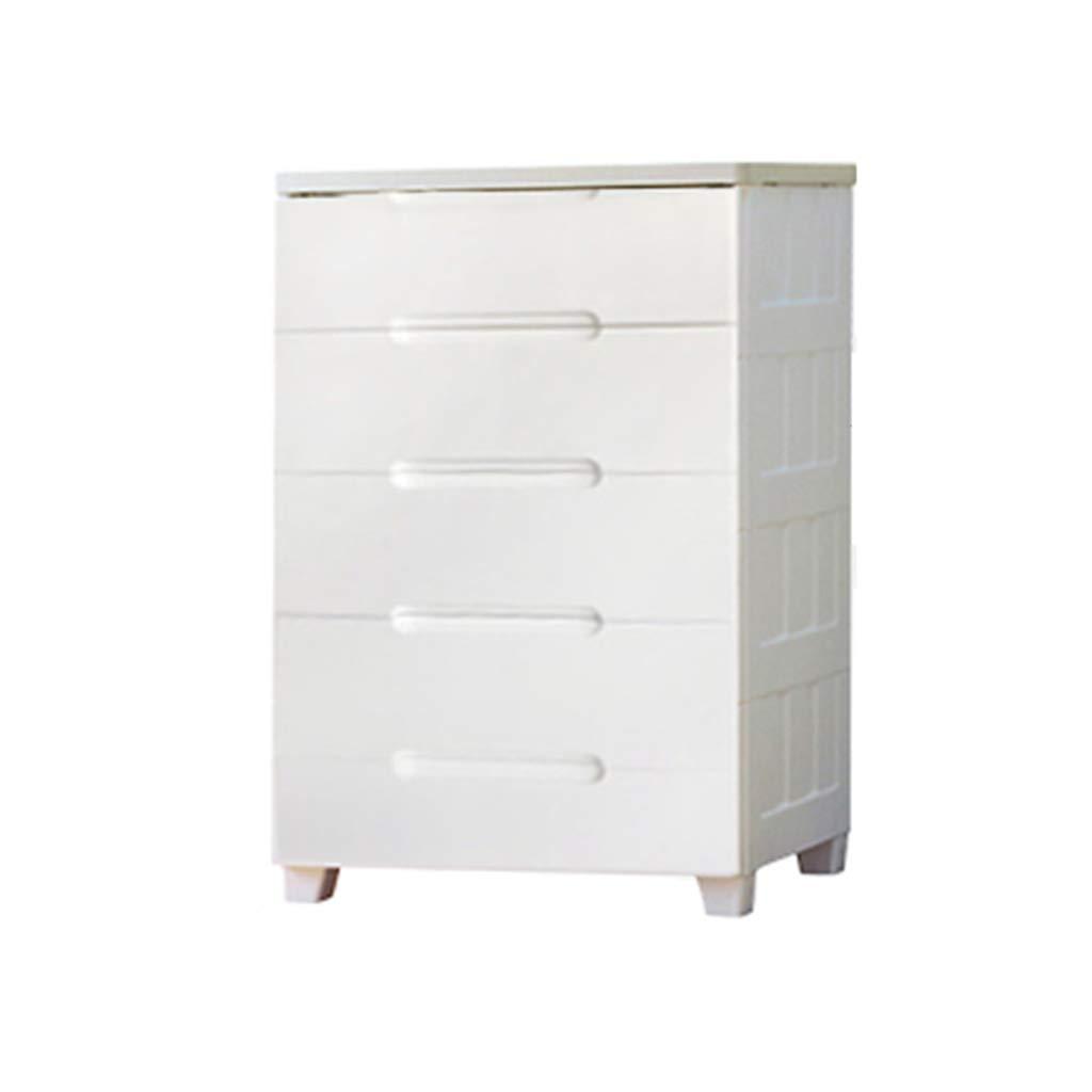 Durable Commode en plastique, coffret de rangement de type chambre à tiroir épaissi, salon de finition blanc pour le salon, 56-73CM Multifonction (Couleur : C, taille : 73 * 42 * 102.5CM)