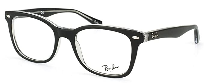 971d9229c3 Image Unavailable. Image not available for. Colour  Ray Ban Optical Men s Rx5285  Top Black On Transparent Frame Plastic Eyeglasses ...