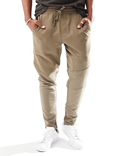(Rebel Canyon Young Men's Slim Fit Ankle Zip Jogger Sweatpant Medium Olive)