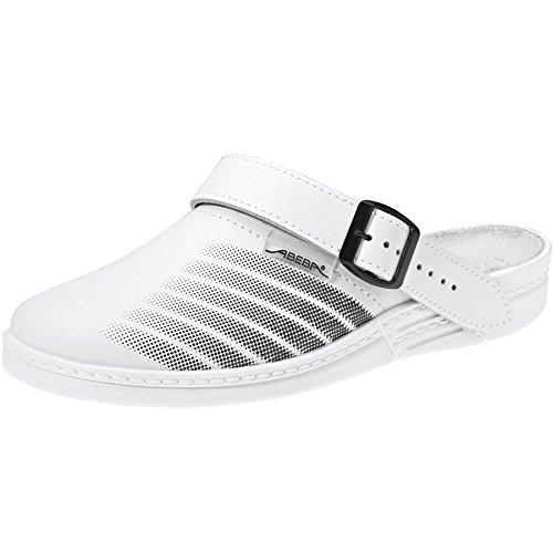 bianco White ABEBA zoccoli 7201 scarpe Lavoro FqnP71xIPw