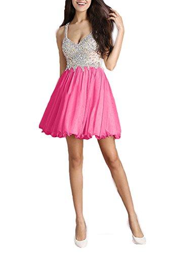 Ivydressing trapecio 40 rosa Vestido mujer para 4UwHq4ra